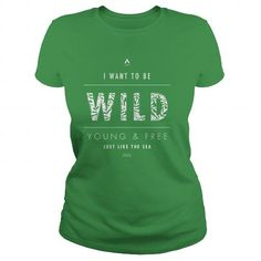 Awesome Tee Young Wild and Free Shirts & Tees