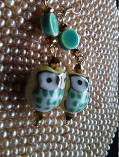OWL ADORE U ALWAYS - Ceramic Owl Earrings by heirpirateME on Etsy