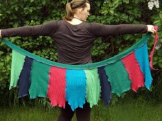 Ready to Ship  Upcycled Sweater Wrap Skirt by CloverCreekCreations, $45.00