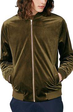 TOPMAN Velvet Bomber Jacket. #topman #cloth #