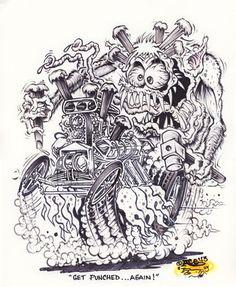 Johnny Ace Original Art Rat FINK Monster ED Big Daddy ROTH Hot Rod KUSTOM Hemi! #JohnnyAceandRothStudios