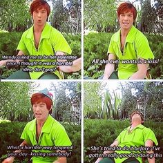 "I cracked up when he said ""I've gotten really good at doing this."" *leans back*>>>>LOVE the Disneyland Peter Pans!"