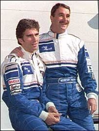 Damon Hill e Nigel Mansell 1994 Formula 1 Gp, Lewis Hamilton Formula 1, Gerhard Berger, Damon Hill, Williams F1, Nigel Mansell, Checkered Flag, F1 Racing, Indy Cars