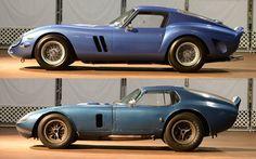 Simeone Museum compares the Cobra Daytona Coupe and Ferrari 250 GTO (Feb 1965 Shelby Cobra, Shelby Car, Vintage Sports Cars, Classic Sports Cars, Sports Car Racing, Sport Cars, Ferrari 250 Gto, Shelby Daytona, Vintage Boats