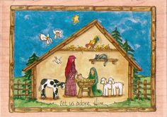 Stamps Happen Rubber Stamp  Let Us Adore Him by Heidi by tjmccarty, $15.00