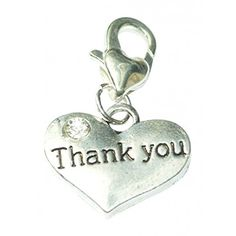 Thank You Message Charms silver tone meaning word charms…