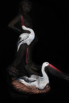 Estos artistas del body painting son unos animales. Nunca mejor dicho!