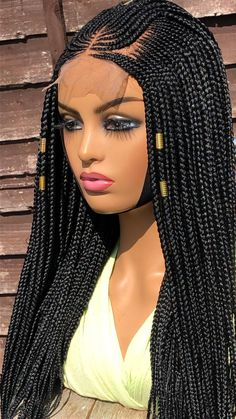 Braids Hairstyles Pictures, African Braids Hairstyles, Hair Pictures, Wig Hairstyles, Cornrows With Box Braids, Box Braid Wig, Braids Wig, Updo, My Hairstyle