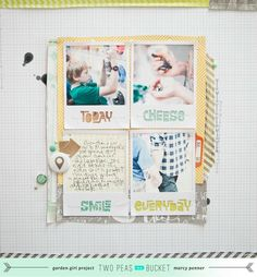 Shape Up Your Scrapbooking | Today Cheese Smile  by Marcy Penner @2peasinabucket