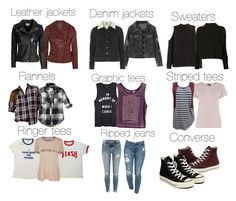 A fashion look from November 2016 featuring graphic shirts, stripe t shirt and long sleeve shirts. Browse and shop related looks. Edgy Outfits, Outfits For Teens, New Outfits, Cool Outfits, Fashion Outfits, Fashion Boots, Supernatural Inspired Outfits, Supernatural Fashion, Fandom Fashion