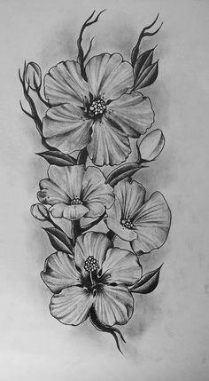 Flower tattoo, tatuagem de flor, tatuagem feminina