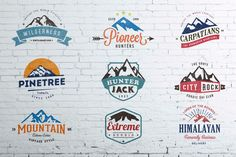Check out Mountain Vintage Badges Color by lovepower on Creative Market