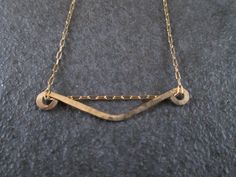 Gold necklace  chevron necklace  gold filled by ScentOfGold. NOW $22.