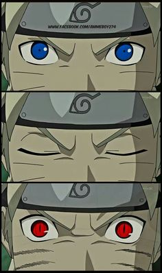 Naruto going into nine tailed fox state