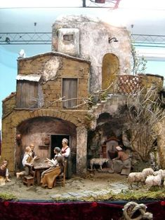 Christmas Nativity Scene, Christmas Crafts, Nativity Scenes, Winter Painting, Putz Houses, Miniature Houses, Old Postcards, Diorama, Interior Design Living Room