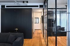 Located in a new building in the center of Tel Aviv, Israel, the Tower Apt. No1 spans 100 square meters (approx. 1076 square feet) and began as an empty, u