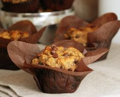 Coconut Banana Chocolate Chip Muffins, gluten and dairy free: very good! Nice muffiny texture