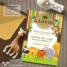 $35.00 Convite Festa Safari Selva para Imprimir
