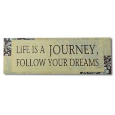 "Adeco Decorative Wood Wall Hanging Sign Plaque, ""Life is a Journey"" Beige Brown Blue Home Decor"
