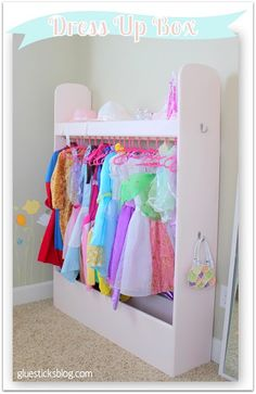 A Dress Up Box to organize dress up clothes and accessories