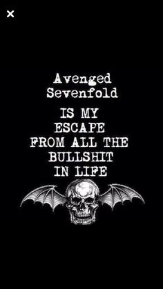 Put A7X on your headphones and forget your shit