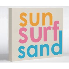 Have to have it. Sun - Surf - Sand Canvas Print - $39.98 @hayneedle