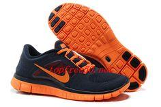 34x32i Light Midnight Total Orange Nike Free Run 3 Men's Running Shoes