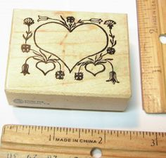 PSX HEARTS AND FLOWERS  Rubber Stamp   #PSX #RUBBERSTAMP