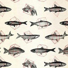 Fishes In Geometrics (Red) by Speakerine / Florent Bodart