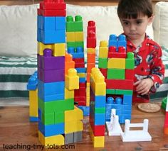 Have a set of Mega-blocks at home?  You can use them to develop some important math skills with these activities.