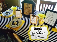 Our annual BACK TO SCHOOL FAMILY DINNER centered around President Hinckley's 9 Bs. Complete with BEE themed details and FREE printables!