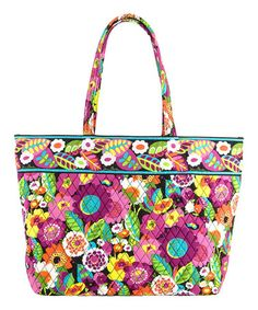 All kinds of Vera Bradley totes, bags, accessories, and home goods on sale!!  This Va Va Bloom Grand Tote is perfect! #zulilyfinds