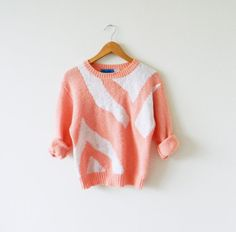 Pink Pastel Vintage Sweater / Pastel Sweater / by thehappyforest