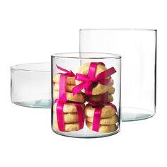 CYLINDER Vase/bowl, set of 3  - IKEA