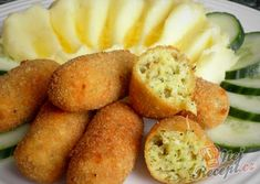 Cuketové krokety so zemiakovou kašou Modern Food, Side Recipes, Pretzel Bites, Bon Appetit, Clean Eating, Food And Drink, Lunch, Bread, Snacks