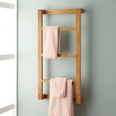 Towel Rack Bathroom, Wood Bathroom, Bathroom Hardware, Bathroom Furniture, Bathroom Storage, Diy Furniture, Towel Storage, Bathroom Closet, Bathroom Small
