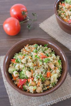 Quinoa and finely chopped vegentable Buddha Bowl