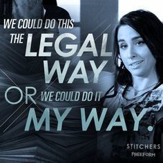 "S2 Ep2 ""Hack Me If You Can"" - We love Camille's way...  #Stitchers"