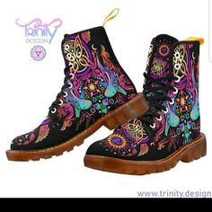 Updates from UtopikCo on Etsy Hippie Festival, Rave Shoes, Floral Combat Boots, Hippie Outfits, Festival Outfits, Hippy, Timberland Boots, Racerback Tank, Lace Up