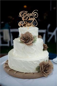 Best Day Ever Wedding Cake Topper, Monogram Wedding Cake Topper, Rustic Wedding Decor, Rustic Cake Topper, acrylic wedding cake topper