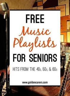 Music has been proven to be very beneficial for the elderly in long term care, particularly those living with dementia or Alzheimer's Disease. Here are some wonderful free playlists of famous songs from the 40s, 50s #elderlycaredementia #elderlycarealzheimers #dementiacare