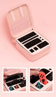 Nintendo Switch Accessories, Gaming Accessories, Nintendo Switch Case, Nintendo Lite, Nintendo Party, Ds Xl, Gaming Room Setup, Kawaii Room, Game Room Design