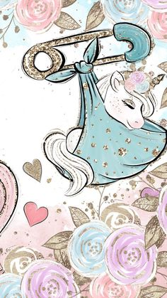 Unicorns With Mustaches Coloring Pages