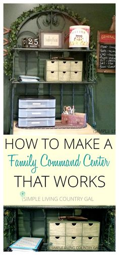 How to set up a family command center that not only works but costs very little to do!  via @SLcountrygal