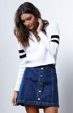 lusting over this denim skirt
