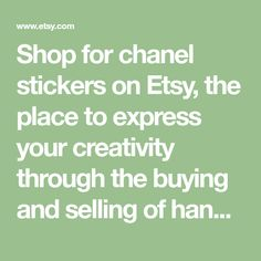 Shop for chanel stickers on Etsy, the place to express your creativity through the buying and selling of handmade and vintage goods.