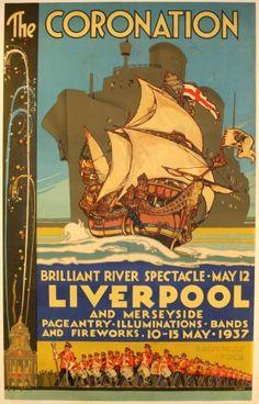 The Coronation, 1937 - original vintage poster by T J Bond listed on AntikBar.co.uk