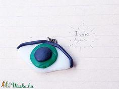 Szem medál (IndieLynx) - Meska.hu Handmade Jewellery, Jewelry, Jewellery Making, Handmade Jewelry, Jewerly, Jewelery, Jewels, Jewlery, Handcrafted Jewelry