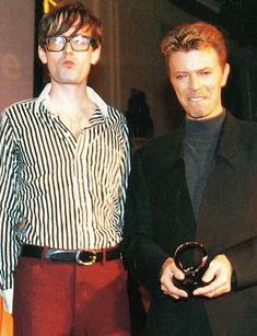 Jarvis Cocker and David Bowie [Twitter / AcrylcAftrnoons]