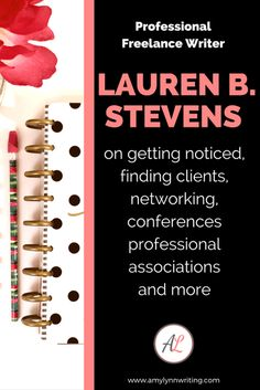 Lauren B. Stevens Talks about Freelancing, Finding Work, Networking and More - Amy-Lynn writing Small Business Software, Business Tips, Make Money Online, How To Make Money, Block Scheduling, Working Mom Tips, Making Words, Legitimate Work From Home, Find Work